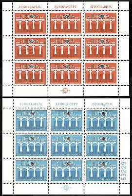 klbg 1624 Jugoslawien Kleinbogen Michelnummer 2046-2047 Postfrisch äSthetisches Aussehen