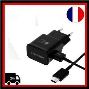 Cable-Micro-USB-Type-C-Chargeur-Rapide-Mural-EP-TA20EBE-Samsung-Galaxy-S8-Noir