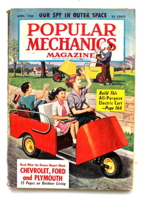 Popular Mechanics Magazine APRIL 1958 Build this All Purpose Electric Cart