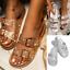 Womens Ladies Diamante Sliders Slip On Mules Slides Slippers Summer Sandals Size