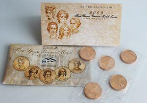 2009-Primer-Pareja-Bronce-Medalla-Serie-Monedas-5-Juego-Brillante-Dorado-Color
