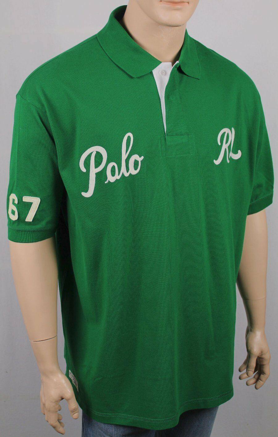 Polo Ralph Lauren Green POLO RL Classic Fit Mesh Shirt NWT