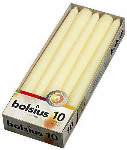 """10 Pack Tapered Candles Dripless Unscented 10/"""" BESTSELLER"""