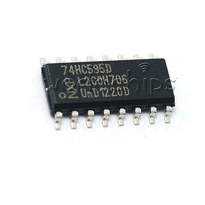 50Pcs M74HC595RM13TR M74HC595RM 74HC595 8 bit Shift Register SMD SOIC-16
