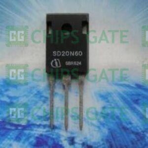 7PCS-Transistor-INFINEON-TO-247-SD20N60
