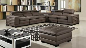 Enjoyable Details About 6Pc Taupe Full Microfiber Leather Sectional Loveseat Chair Corner Ottoman Set Onthecornerstone Fun Painted Chair Ideas Images Onthecornerstoneorg