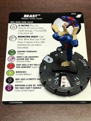 Marvel Heroclix X-Men Xavier/'s School Beast 003