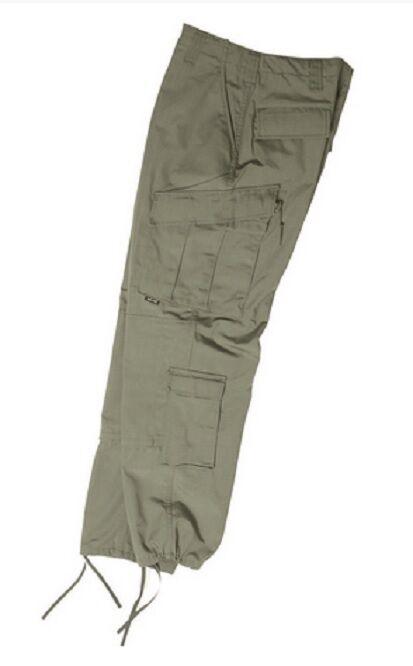 US ACU Field Hose Army Rip Stop Hose Trousers Hose OD Grün Olive Large Regular