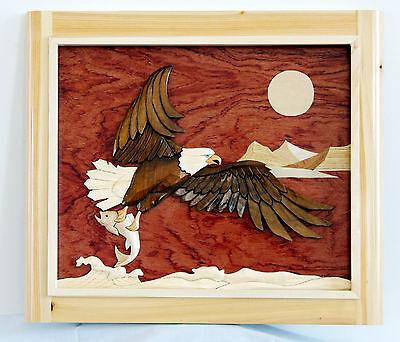 Eagle Intarsia Wood Art