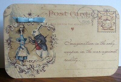 Alice in Wonderland 4 Large Post Card tent card party favor table decoration
