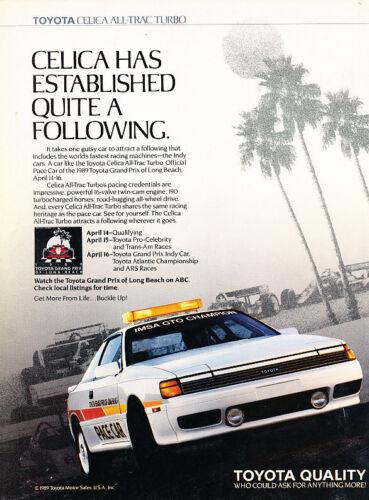 1989 Toyota Celica Pace Race Car IMSA Vintage Advertisement Print Ad P47