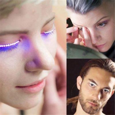 1 Pair LED Lashes Fake Eyelashes Makeup Waterproof Holiday Party Pub Club Bar FG