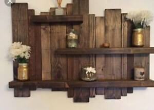Details About Rustic Wood Shelves Up Cycled Pallet Wood 4 Colours Available