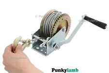Hand Boat Trailer Car Winch 1200Lb With 10M Long Cable Puller Garage Tool New