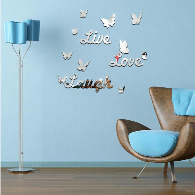 3D Butterfly Flower Fairy Floral Wall Sticker Pretty Decor Decals Vinyl Art^