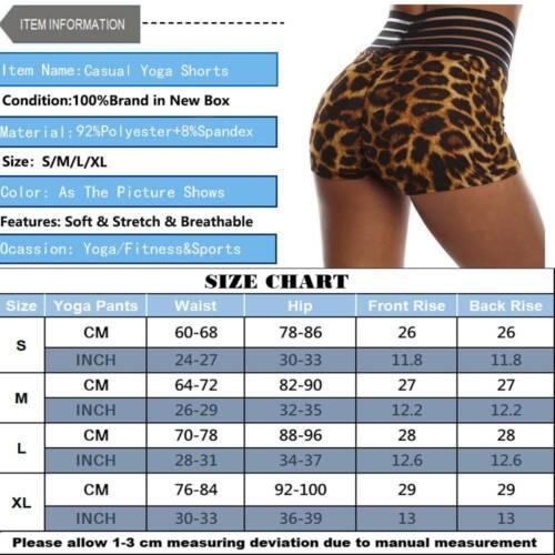 Women High Waist Yoga Shorts Gym Tummy Contral Fitness Leggings Scrunch Hot Pant