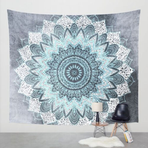 Boho Mandala Tapestry Hippie Shawl Round Beach Yoga Mat Lotus Blanket Decoration
