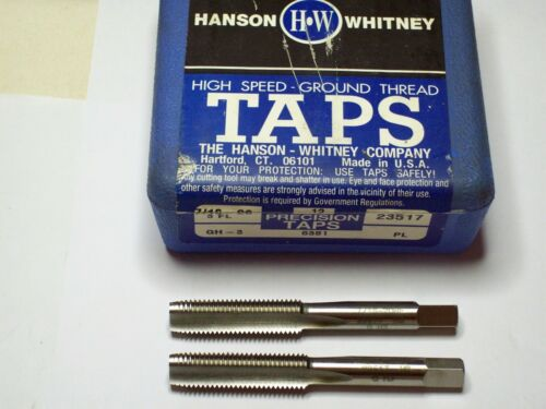 "Hanson Whitney Threading Hand Plug Tap 7//16/"" x 20 NF 3FL Made in USA! 2"