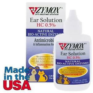 Zymox Dog Ear Health Solution 5 Hydrocortizone Pets Ear