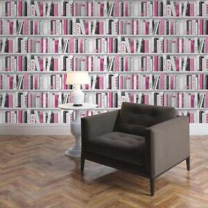 Pink Fashion Library Books Bookcase Bookshelf Wallpaper ...  Pink And Grey Bookcase