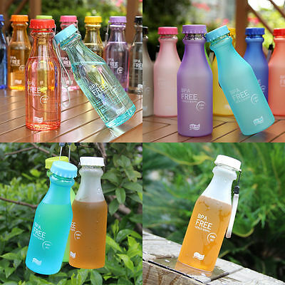 550ml BPA Free Unbreakable Plastic Water Bottle Cycling Bicycle Camping Sports