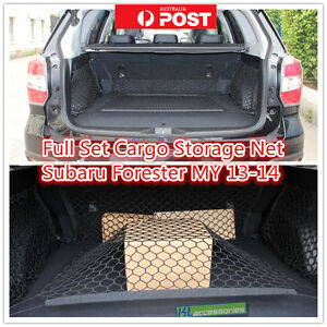 Image is loading Set-4-PCS-Elastic-Mesh-Car-Cargo-Trunk- & Set 4 PCS Elastic Mesh Car Cargo Trunk Storage Net For Subaru ...