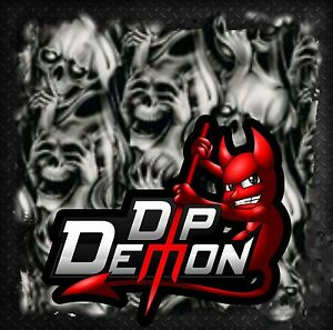 DIP DEMON SEE NO EVIL SKULLS HYDROGRAPHIC WATER TRANSFER FILM HYDRO DIPPING