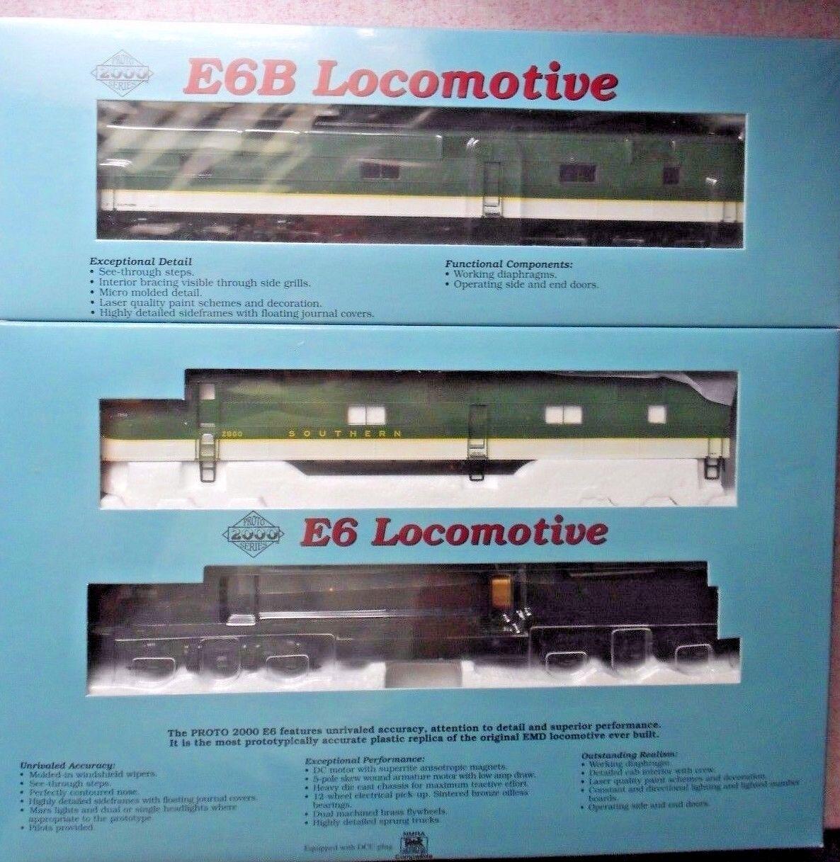 Proto 2018 EMD E6A  E6B Set Diesel HO calibre Ferrocarril del Sur Nuevo En Caja