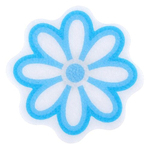 Adhesive Daisy Bath Treads in Blue by SlipX Solutions 6 Per Pack