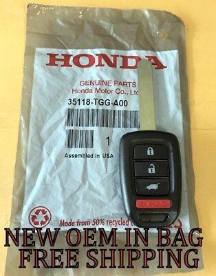 NEW OEM 2017 2018 HONDA CR-V LX REMOTE HEAD KEY FOB KEY LESS ENTRY 35118-TLA-A00