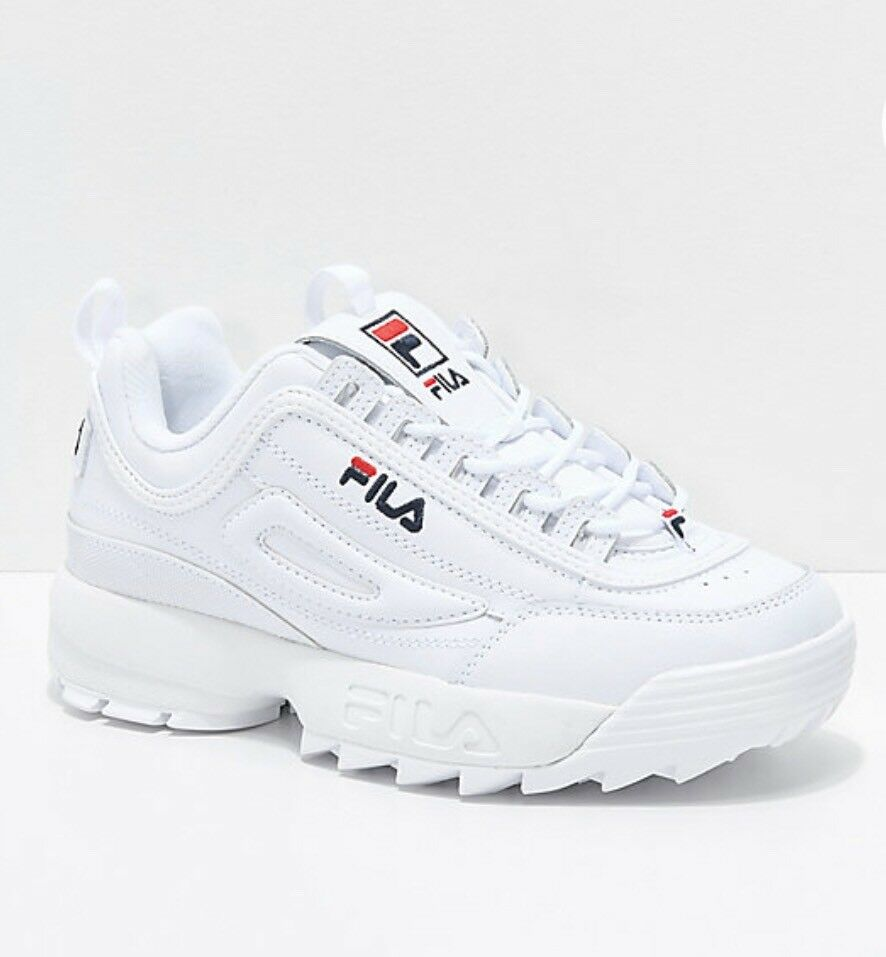 fila disruptor ii men FEO1655-111 Wht/peact/red Comfortable Casual wild
