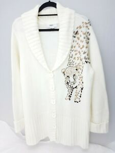 a30feef20ac Image is loading Women-Cardigan-Bonprix-Collection-Warm-Leopard-Print-Size-