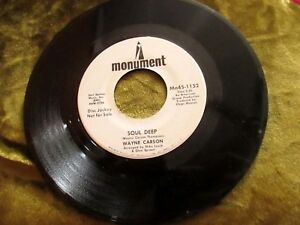 WAYNE CARSON PROMO 45 SOUL DEEP DON'T LET THE SUN SET ON YOU IN