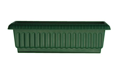 24 Inch Plastic Rectangular Grecian Planter Flower Window Deck Railing Box