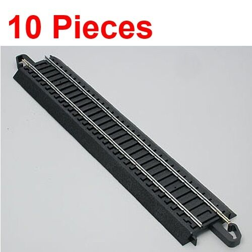 "Bachmann 44481 9/"" Straight E-Z HO Train Track 10 Pieces"