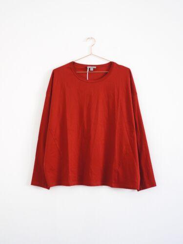 COS Bluse lässig baumwolle dunkelrot Oversized cotton top burgundy M HOF115