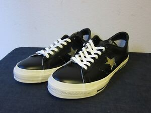 fcd18335fbf723 Deadstock DS Converse One Star All Leather Shoes Black White 9.5 ...