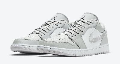 Nike Air Jordan Retro 1 Low White Camo Photon Dust Grey Fog DC9036-100 Size  8-13   eBay