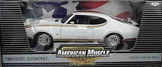 1969 oldsmobile hurst weiße 1,18 ertl amerikanischen muscle 39220
