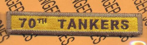 70th TANKERS Armored Tank TAB
