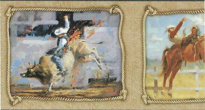Roughstock Riders Art Wallpaper Border