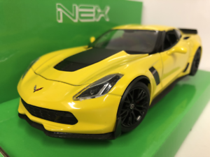 2017 Chevrolet Corvette Z06 Yellow 1 24 27 Scale Welly 2408