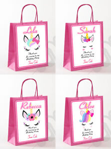 Personalised Unicorn Party Gift Favours Party Bag
