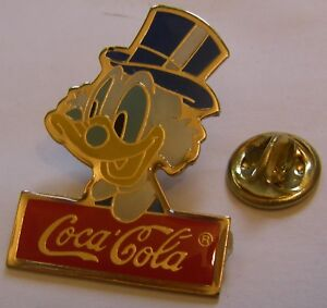 DISNEY-COCA-COLA-SRCOOGE-MCDUCK-DONALD-DUCK-vintage-pin-badge