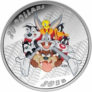2015-20-1-oz-99-99-Pure-Fine-Silver-Coin-Looney-Tunes-Merrie-Melodies