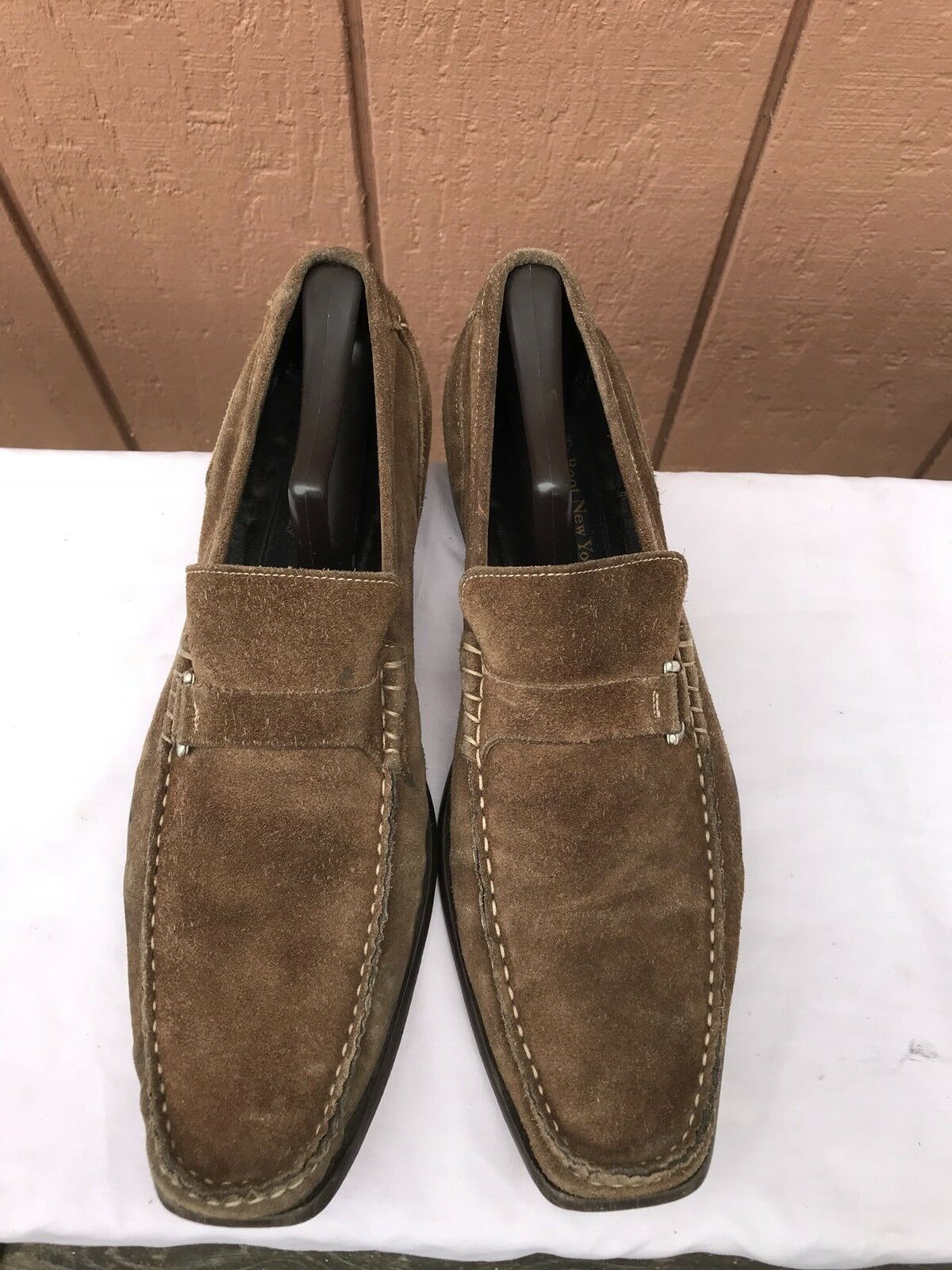 To On Boot New York Slip On To Suede Penny Loafers Brown Uomo Sz US 9 7e5b1f