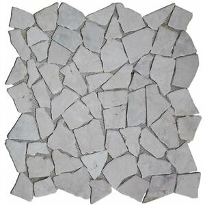 Image Is Loading Vidaxl 11pc Mosaic Marble Broken Stone Tiles Floor
