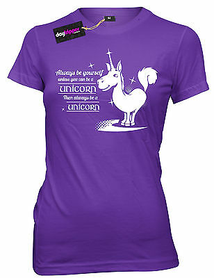 DT T-Shirt Tee Junior New Always Be Yourself Unless You Can Be A Unicorn A