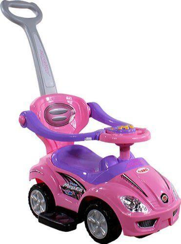 Spielzeugauto ARTI 382 Mega Car Deluxe Rosa Rosa Lauflernwagen Kinderfahrzeuge
