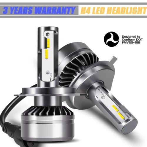 H4 9003 LED Headlight Bulb Conversion Kit High Low BEAMTECH 12000LM 6000K WXA6